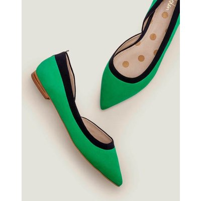 Sophia Pointed Flats Green Women Boden, Navy