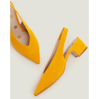 Lena Slingback Heels Yellow Women Boden, Yellow