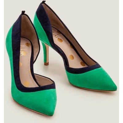 Sophia Mid Heels Green Women Boden, Navy
