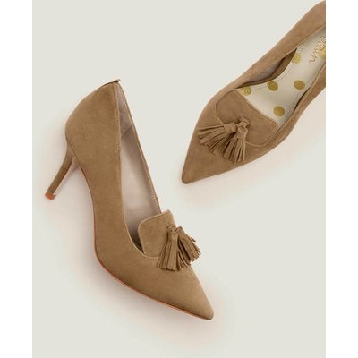 Leah Mid Heels Brown Women Boden, Camel