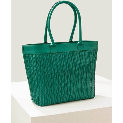 Titania Woven Tote Bag Green Women Boden, Green