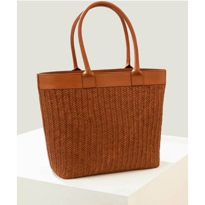 Titania Woven Tote Bag Brown Women Boden, Tan