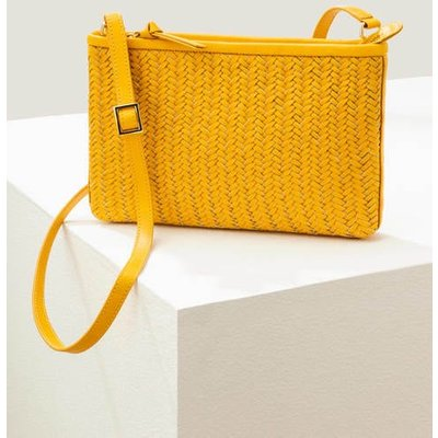 Titania Woven Clutch Yellow Women Boden, Yellow