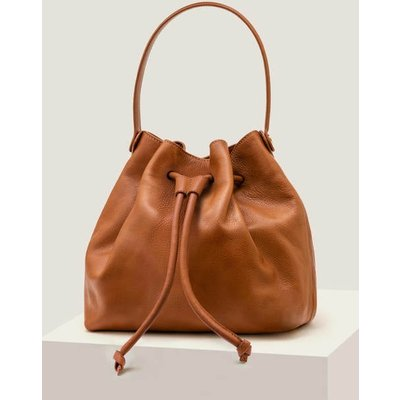 Octavia Drawstring Bag Brown Women Boden, Tan