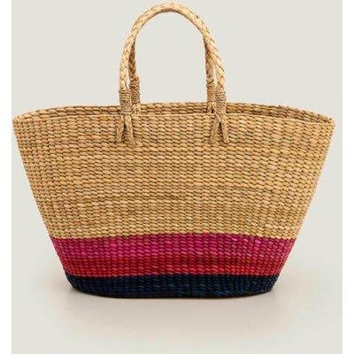 Ceres Straw Basket Bag Blue Women Boden, Navy