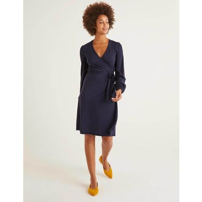 Elodie Jersey Wrap Dress Navy Women Boden, Navy