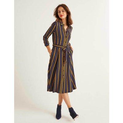 Susannah Jersey Shirt Dress Navy Women Boden, Navy