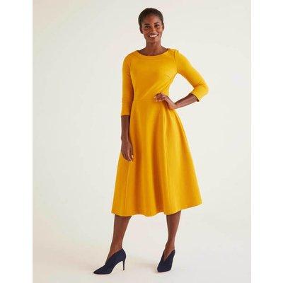 Maisy Ottoman Dress Yellow Women Boden, Yellow