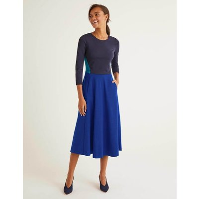 Ivy Ponte Midi Dress Blue Women Boden, Blue