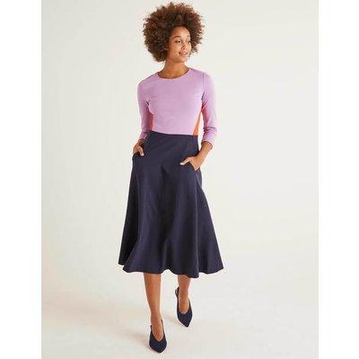 Ivy Ponte Midi Dress Navy Women Boden, Navy