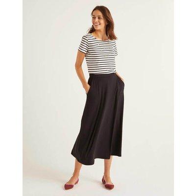 Jersey Midi Skirt Black Women Boden, Black
