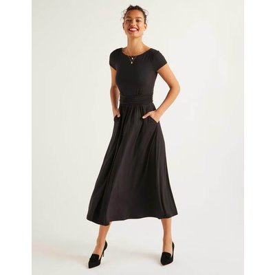 Faye Jersey Midi Dress Black Women Boden, Black