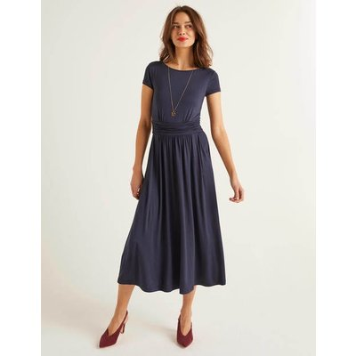 Faye Jersey Midi Dress Navy Women Boden, Navy