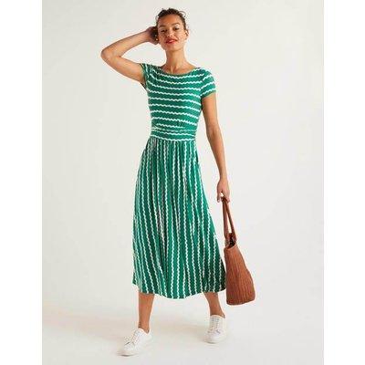 Faye Jersey Midi Dress Green Women Boden, Green