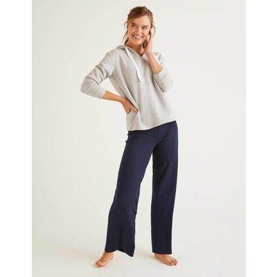 Wide Leg Jersey Trousers Navy Women Boden, Navy