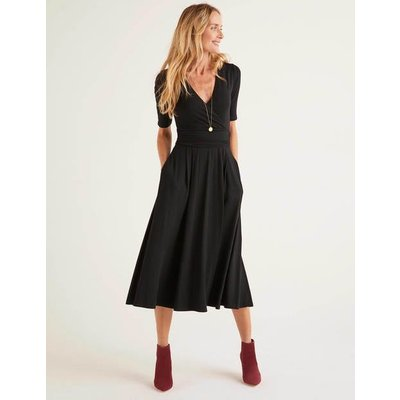 Kassidy Jersey Midi Dress Black Women Boden, Black