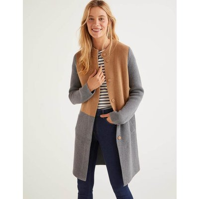 Claudia Coatigan Grey Women Boden, Camel
