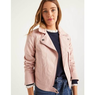 Wren Biker Jacket Pink Women Boden, Pink
