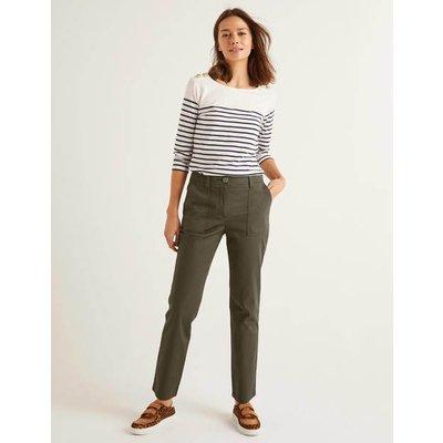 Salcombe Cargo Trousers Khaki Women Boden, Khaki
