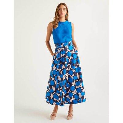 Brooke Belted Skirt Blue Women Boden, Blue
