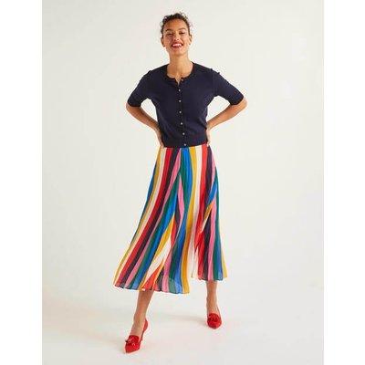 Fairfax Pleated Skirt Multi Women Boden, Multicouloured