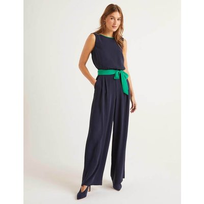 Lottie Jumpsuit Navy Women Boden, Green