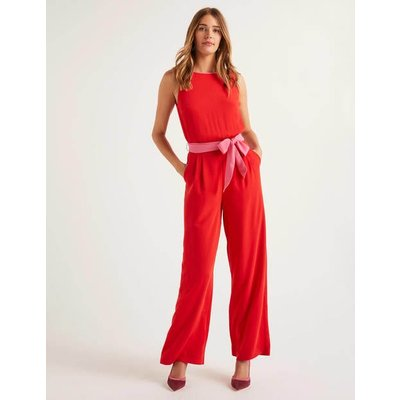 Lottie Jumpsuit Red Women Boden, Pink