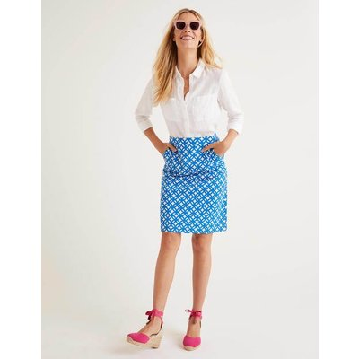 Francesca A-line Skirt Blue Women Boden, Blue