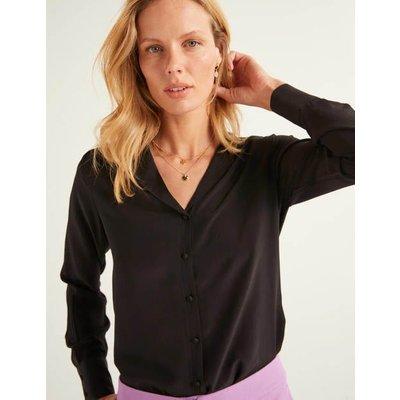 Tabitha Silk Shirt Black Women Boden, Black