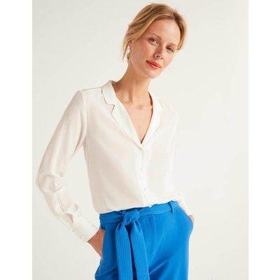 Tabitha Silk Shirt Ivory Women Boden, Ivory