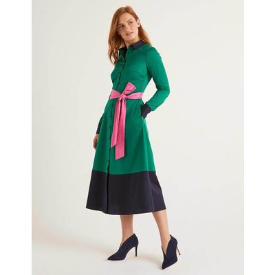 Isodora Midi Shirt Dress Green Women Boden, Green