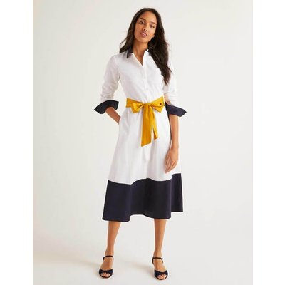 Isodora Midi Shirt Dress White Women Boden, White