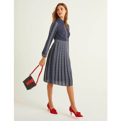 Clemency Shirt Dress Navy Women Boden, Navy