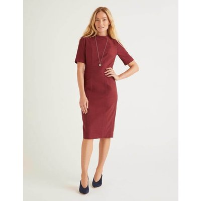 Louise Textured Dress Brown Women Boden, Brown