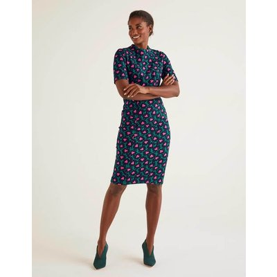 Louise Textured Dress Green Women Boden, Green