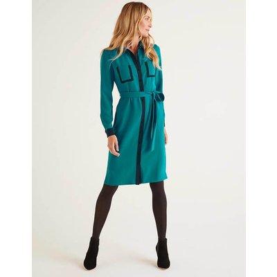 Rachel Shirt Dress Blue Women Boden, Turquoise