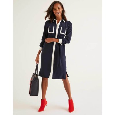 Rachel Shirt Dress Navy Women Boden, Navy