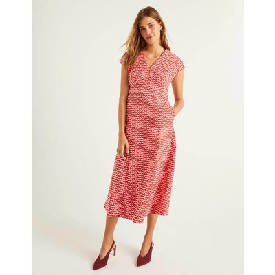 Natasha Cotton Dress Red Women Boden, Navy