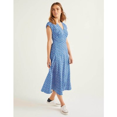 Natasha Cotton Dress Blue Women Boden, Blue