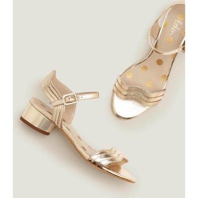 Kitty Heeled Sandals Gold Women Boden, Gold