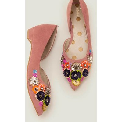 Cynthia Embellished Flats Pink Women Boden, Pink