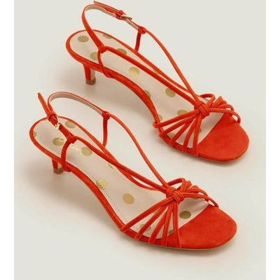 Tessa Kitten Heel Slingbacks Orange Women Boden, Orange