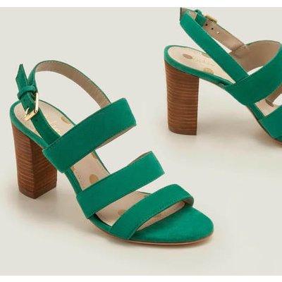 Samantha Heeled Sandals Green Women Boden, Green