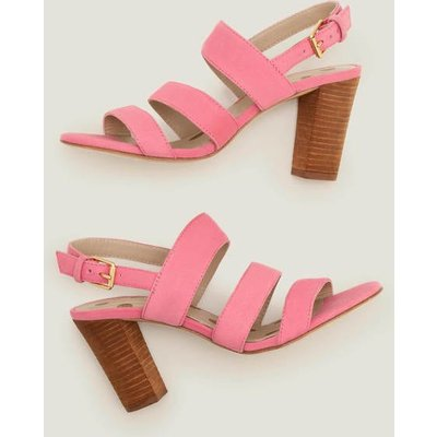 Samantha Heeled Sandals Bright Camellia Women Boden, Bright Camellia