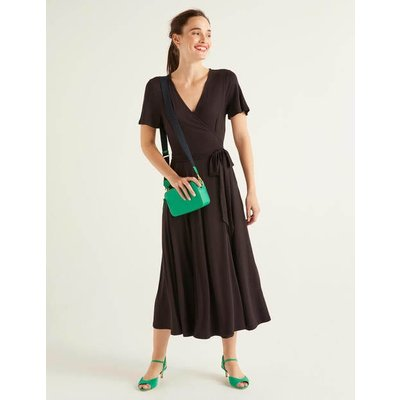 Cassia Jersey Midi Dress Black Women Boden, Black