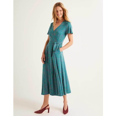 Cassia Jersey Midi Dress Blue Women Boden, Blue