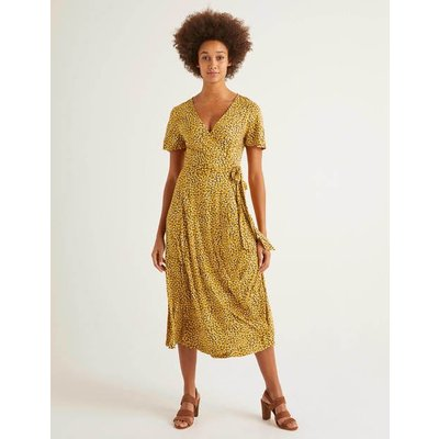 Cassia Jersey Midi Dress Yellow Women Boden, Yellow