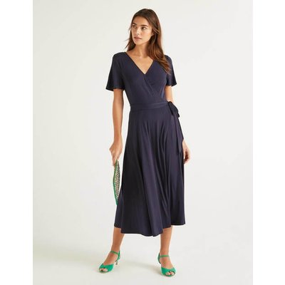 Cassia Jersey Midi Dress Navy Women Boden, Navy