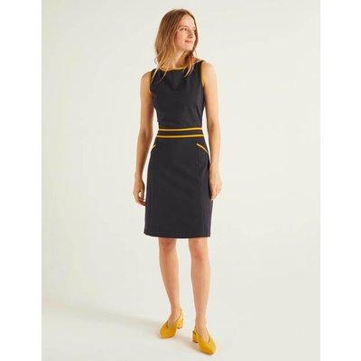 Sabrina Ponte Shift Dress Navy Women Boden, Navy
