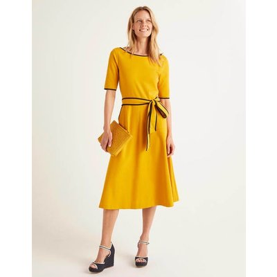 Ruby Ponte Midi Dress Yellow Women Boden, Yellow